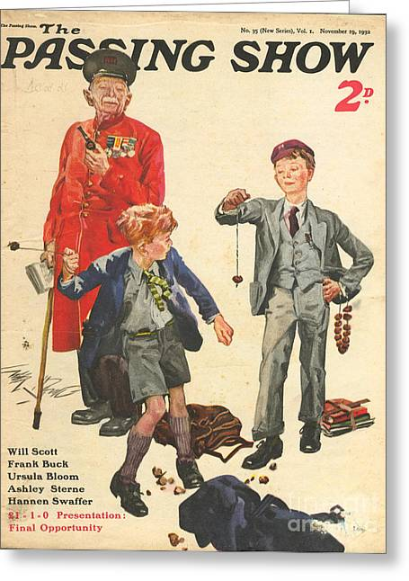 Chelsea Greeting Cards - 1930s,uk,the Passing Show,magazine Cover Greeting Card by The Advertising Archives