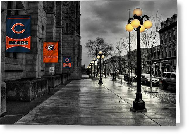 Main Street Greeting Cards - Chicago Bears Greeting Card by Joe Hamilton