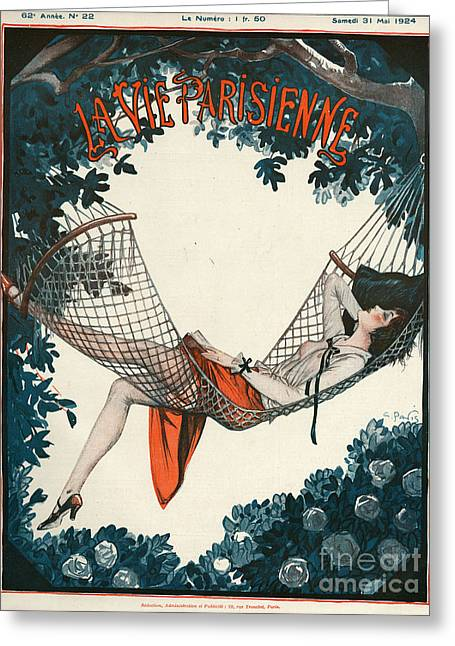 Twentieth Century Greeting Cards - La Vie Parisienne  1924 1920s France Greeting Card by The Advertising Archives