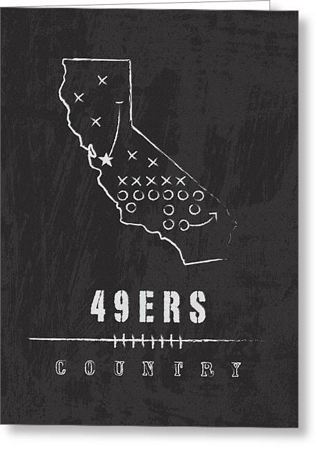 Fortyniner Greeting Cards - 49ers Country 2 Greeting Card by Damon Gray