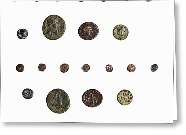 4th Century BCE coin Greeting Card by Science Photo Library