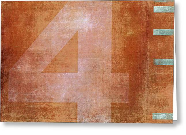 Numerical Greeting Cards - 4th Floor Greeting Card by Carol Leigh