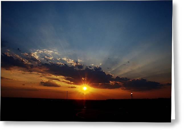 4th July Digital Greeting Cards - 4th July Sunset 2013 Greeting Card by Roy Williams
