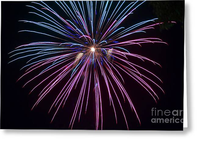 Pyrotechnics Greeting Cards - 4th of July 2014 Fireworks Bridgeport Hill Clarksburg WV 1 Greeting Card by Howard Tenke