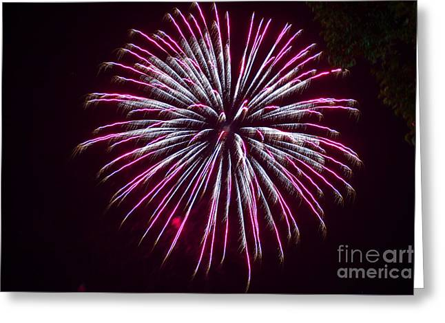 4th July Greeting Cards - 4th of July 2014 Fireworks Bridgeport Hill Clarksburg WV 10 Greeting Card by Howard Tenke