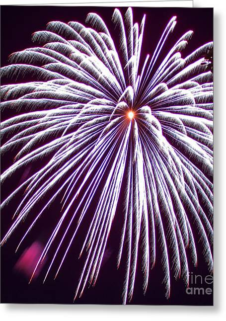 Pyrotechnics Greeting Cards - 4th of July 2014 Fireworks Bridgeport Hill Clarksburg WV 6 Greeting Card by Howard Tenke