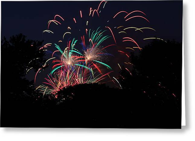 4th of July Fireworks - 011310 Greeting Card by DC Photographer
