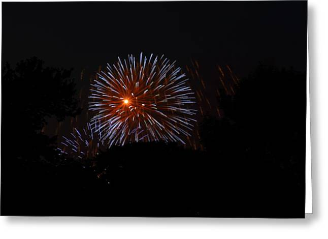 Artworks Greeting Cards - 4th of July Fireworks - 011314 Greeting Card by DC Photographer