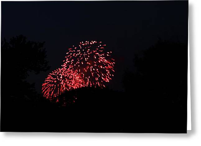 Celebrate Photographs Greeting Cards - 4th of July Fireworks - 011317 Greeting Card by DC Photographer