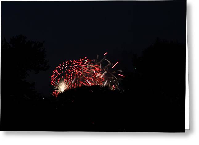 Celebrate Photographs Greeting Cards - 4th of July Fireworks - 011318 Greeting Card by DC Photographer