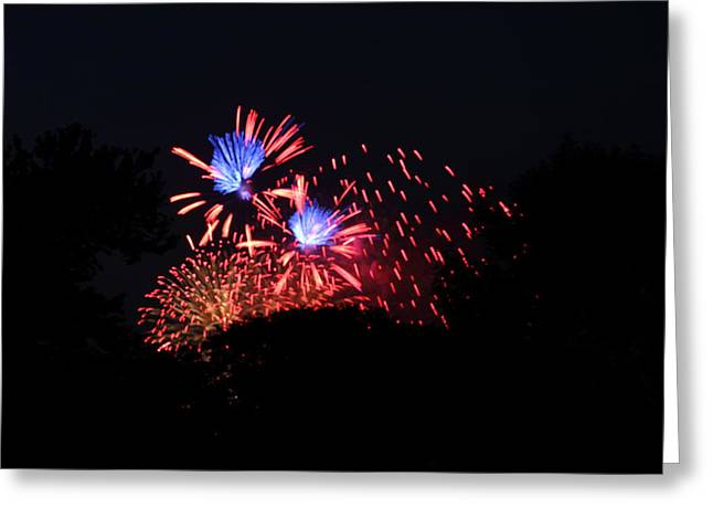4th of July Fireworks - 011319 Greeting Card by DC Photographer