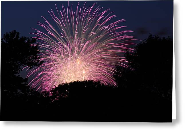 4th of July Fireworks - 01132 Greeting Card by DC Photographer