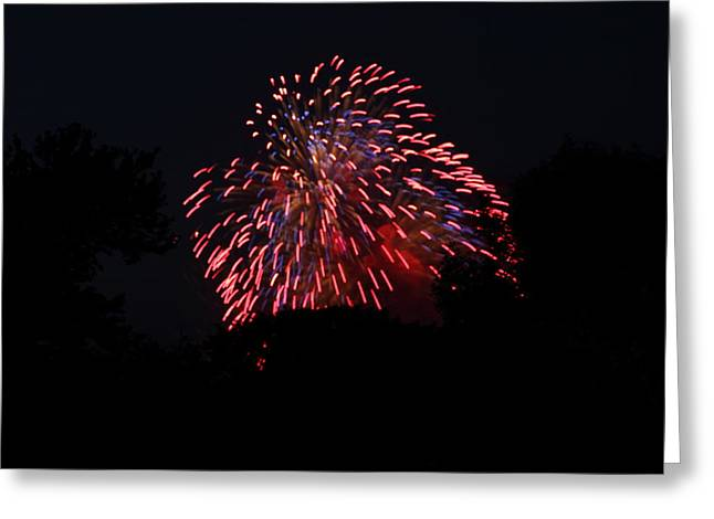 Electric Greeting Cards - 4th of July Fireworks - 011321 Greeting Card by DC Photographer
