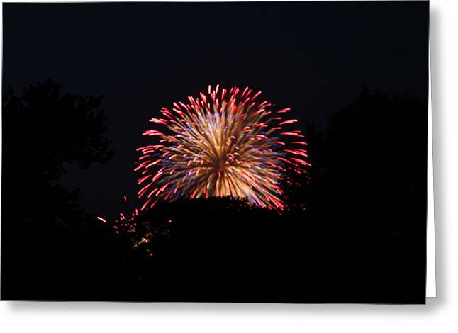 Exposure Greeting Cards - 4th of July Fireworks - 011322 Greeting Card by DC Photographer