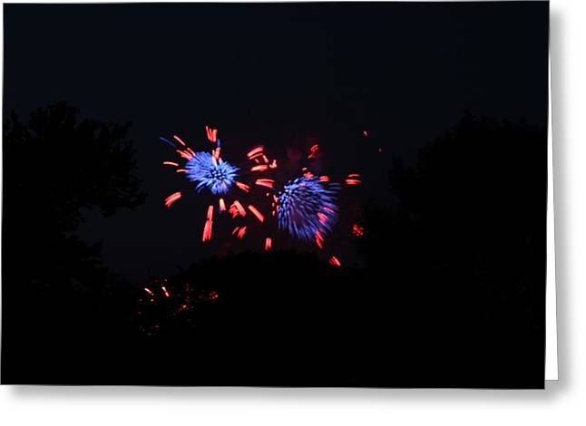 Long Greeting Cards - 4th of July Fireworks - 011323 Greeting Card by DC Photographer