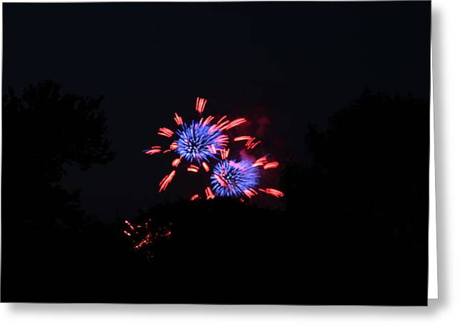 Celebrate Greeting Cards - 4th of July Fireworks - 011324 Greeting Card by DC Photographer