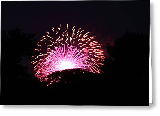 4th of July Fireworks - 011327 Greeting Card by DC Photographer