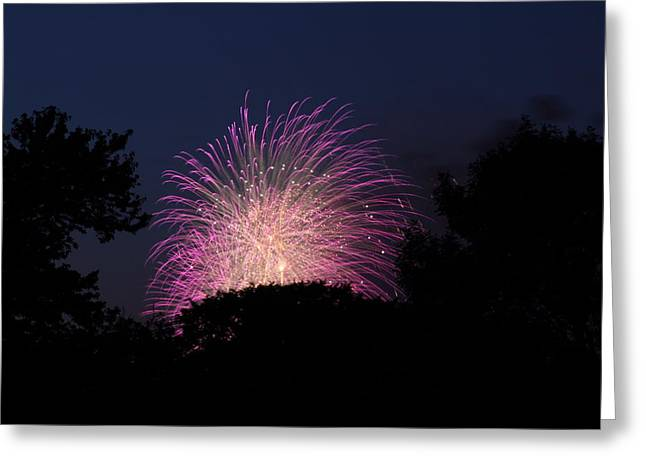 4th of July Fireworks - 01133 Greeting Card by DC Photographer