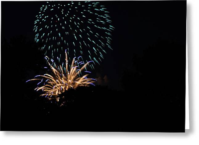In Greeting Cards - 4th of July Fireworks - 011330 Greeting Card by DC Photographer