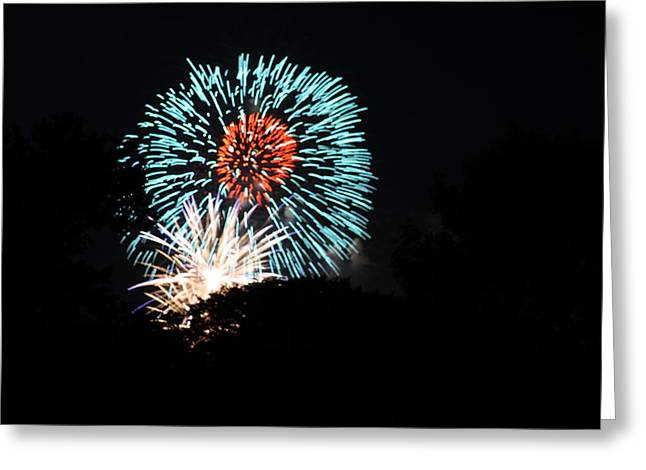 Explode Greeting Cards - 4th of July Fireworks - 011331 Greeting Card by DC Photographer