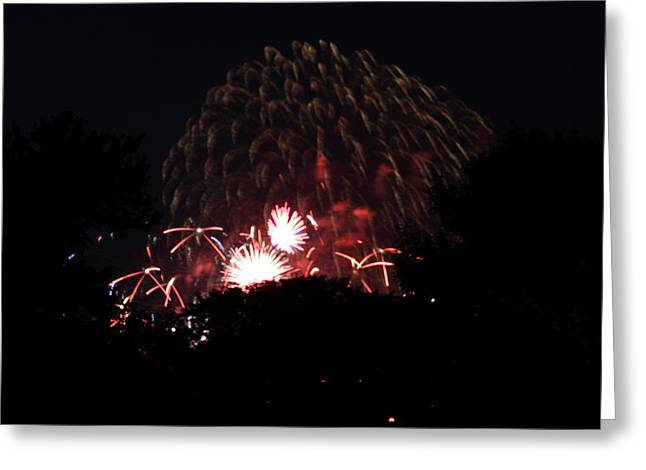 Festivities Greeting Cards - 4th of July Fireworks - 011333 Greeting Card by DC Photographer