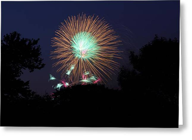 4th Of July Fireworks - 01134 Greeting Card by DC Photographer