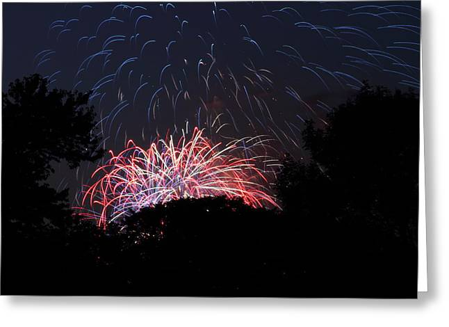Exposure Greeting Cards - 4th of July Fireworks - 01135 Greeting Card by DC Photographer