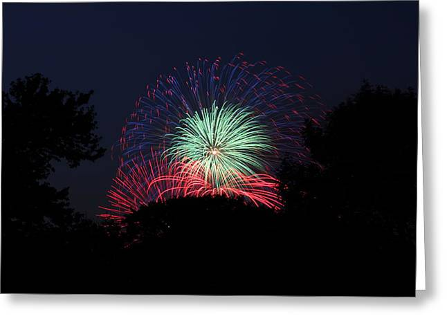 4th of July Fireworks - 01137 Greeting Card by DC Photographer