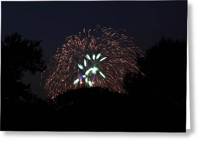 4th Of July Fireworks - 01138 Greeting Card by DC Photographer