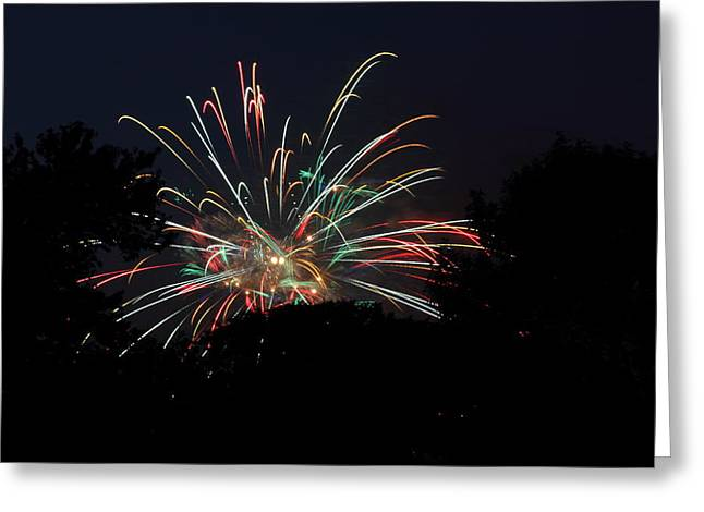 Artworks Greeting Cards - 4th of July Fireworks - 01139 Greeting Card by DC Photographer