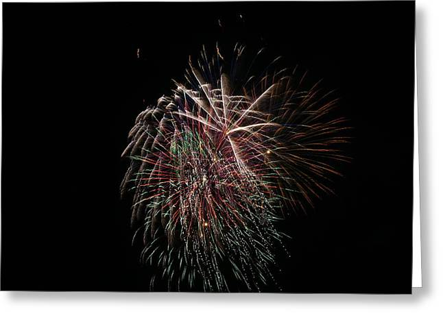 4th of July Fireworks Greeting Card by Alan Hutchins