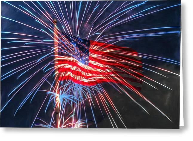 4th Digital Art Greeting Cards - 4th Of July Greeting Card by Heidi Smith