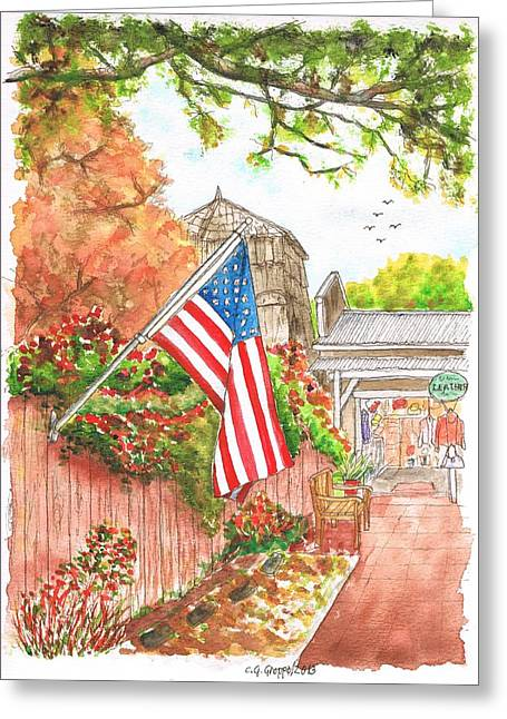 Red Wine Prints Greeting Cards - 4th of July in Los Olivos - California Greeting Card by Carlos G Groppa
