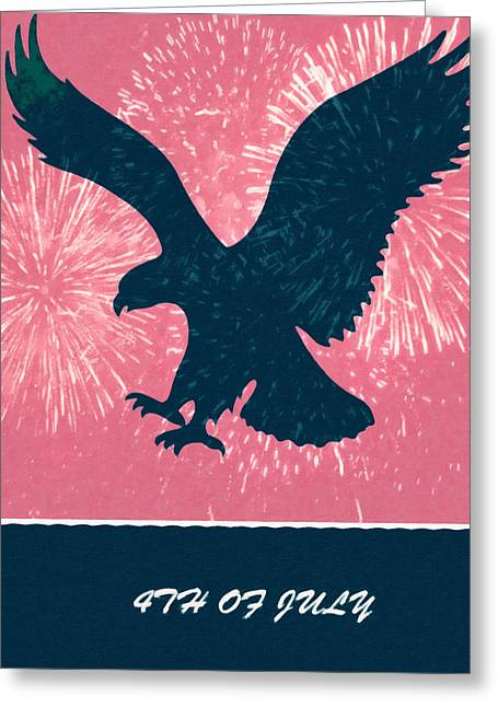 Conservative Paintings Greeting Cards - 4th Of July Greeting Card by Lanjee Chee
