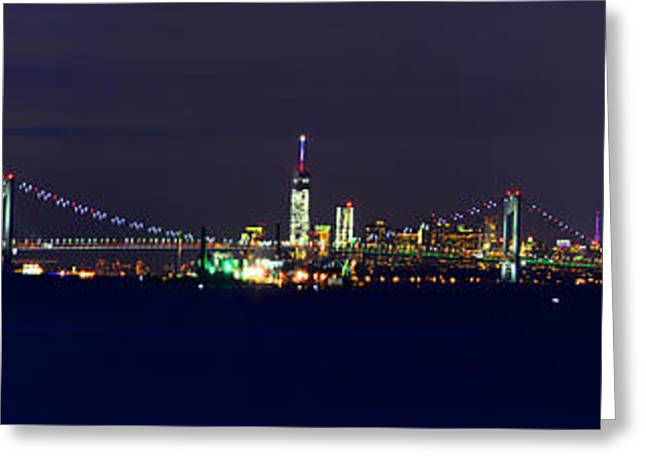 4th July Greeting Cards - 4th of July New York City Greeting Card by Raymond Salani III