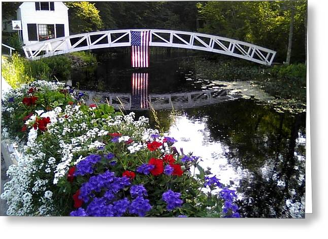 Somesville Maine Greeting Cards - 4th of July Somesville Maine Greeting Card by Dana Hatch