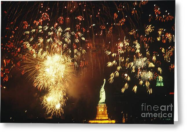 Patriotic Greeting Card Greeting Cards - 4th Of July Greeting Card by Wesley Bocxe