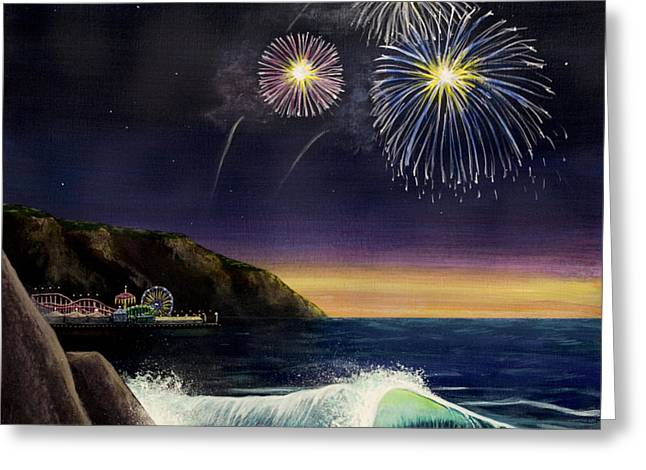 4th on the Shore Greeting Card by Jack Malloch