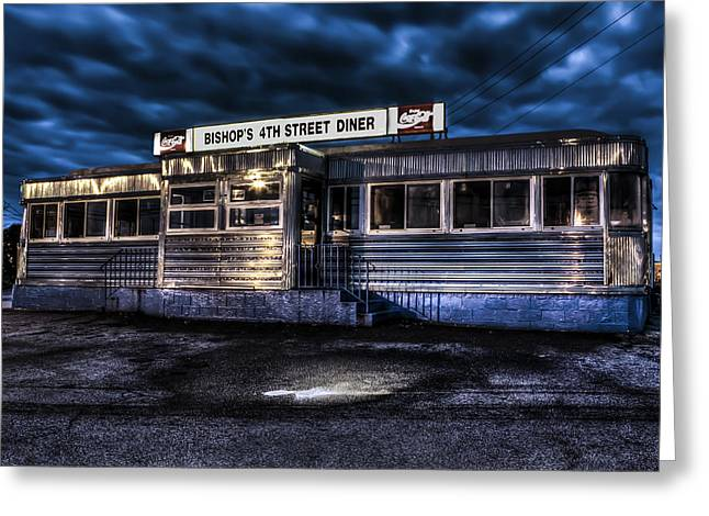 Andrew Pacheco Greeting Cards - 4th Street Diner Greeting Card by Andrew Pacheco