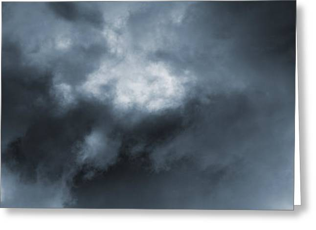 Stormy Weather Greeting Cards - 4x4 Driving Into Stormy Weather Greeting Card by Christian Lagereek