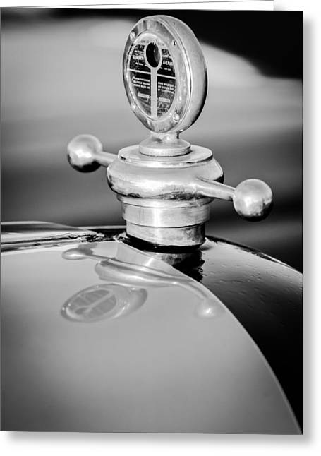 Motometer Greeting Cards - 1922 Studebaker Touring Hood Ornament Greeting Card by Jill Reger