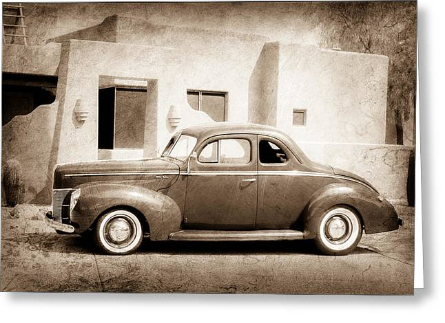 1940 Ford Greeting Cards - 1940 Ford Deluxe Coupe Greeting Card by Jill Reger