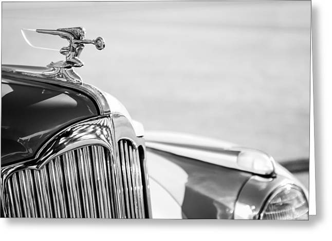 1942 Greeting Cards - 1942 Packard Darrin Convertible Victoria Hood Ornament Greeting Card by Jill Reger