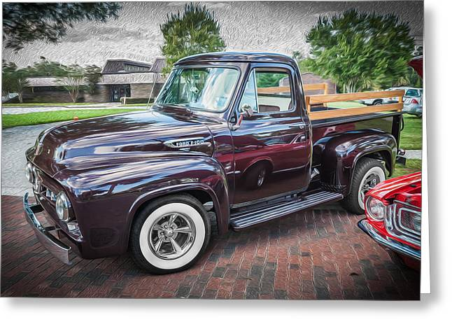 53 Greeting Cards - 1953 Ford F100 Pickup Truck  Greeting Card by Rich Franco