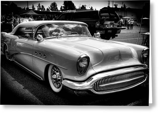 Mascots Greeting Cards - 1954 Buick Century Convertible Greeting Card by David Patterson