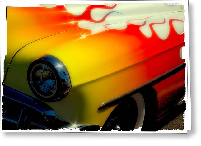 Mascots Greeting Cards - 1954 Chevy Bel Air Custom Hot Rod Greeting Card by David Patterson