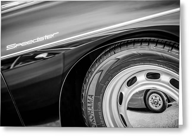 Speedster Greeting Cards - 1957 Porsche Speedster 1600 Super Hood Emblem Greeting Card by Jill Reger