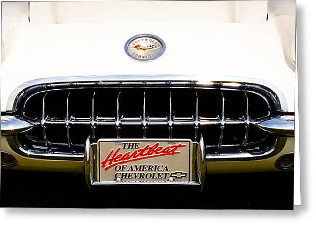 Collector Hood Ornament Greeting Cards - 1959 Chevy Corvette Greeting Card by David Patterson