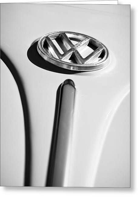 1960 Greeting Cards - 1960 Volkswagen VW Emblem Greeting Card by Jill Reger