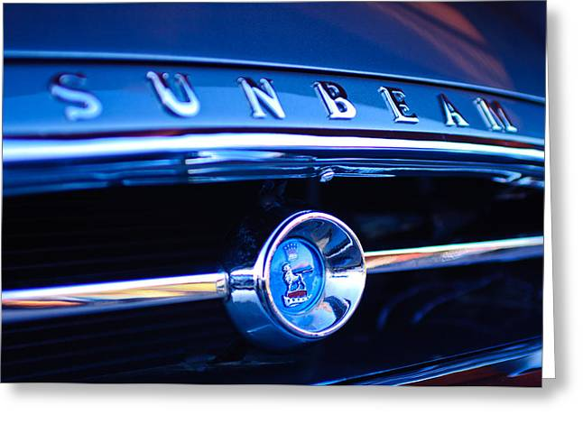 1965 Greeting Cards - 1965 Sunbeam Tiger Grille Emblem Greeting Card by Jill Reger